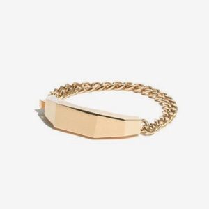 Madewell Sculpture ID Chain Bracelet Gold Finish
